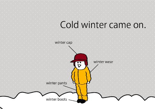 冬の北海道の装いポストカードイラストacで自由にダウンロードできるよ