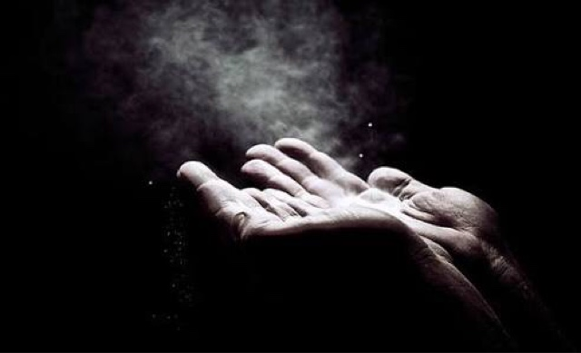 Image result for arms outstretched letting go in dark