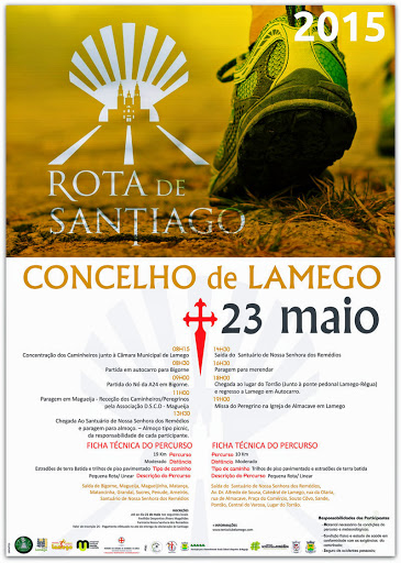 Programa – Rota de Santiago – Lamego – 23 de Maio de 2015