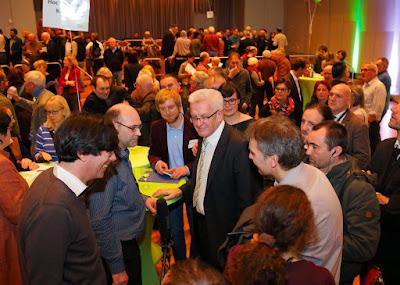 Gruene vor Ort. Besuch des Ministerpraesidenten Winfried Kretschmann im Palatin Wiesloch. 13.01.2015 - Jan A. Pfeifer - 01726290959