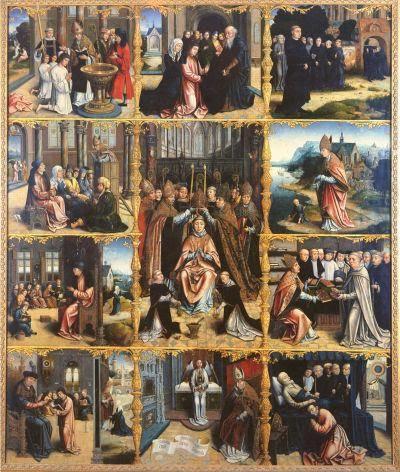 Jan van Scorel - Tavola di S. Agostino