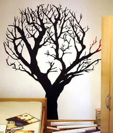 Vẽ tranh tường phòng ngủ nghệ thuật