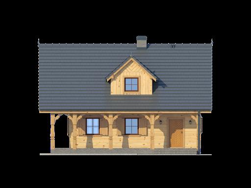 Dom mazurski dw - Elewacja przednia