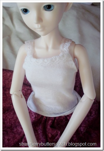 doll lace trimmed tank top