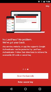 LastPass Authenticator Screenshot