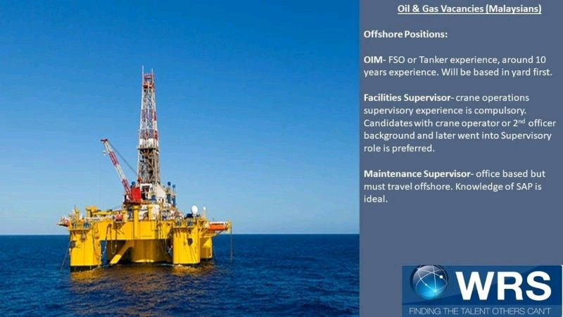 Oil and Gas Jobs: Oil and Gas Offshore Vacancies Malaysia