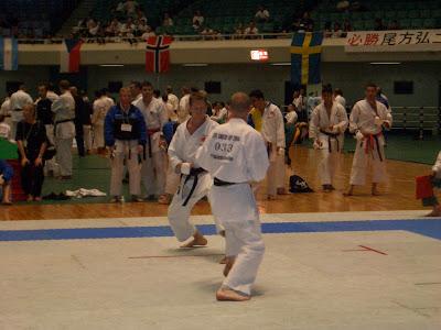 Ricardo García Mendaña en el mundial de Japón 2004