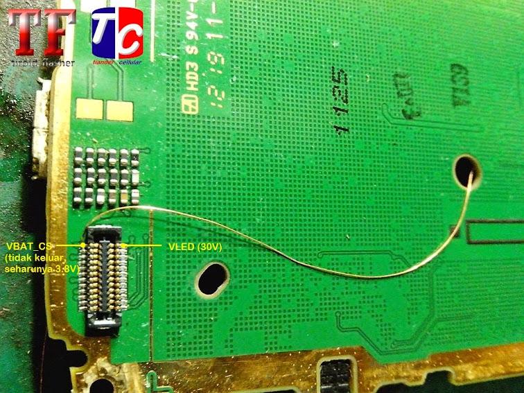 Repair Nokia X2-02  Tidak Ada Lampu Layar
