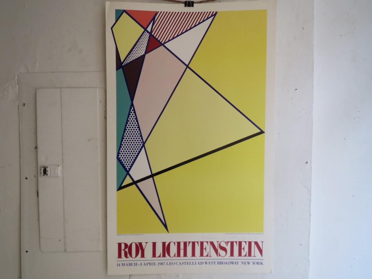 Roy Lichtenstein Signed Exhibition Poster 2