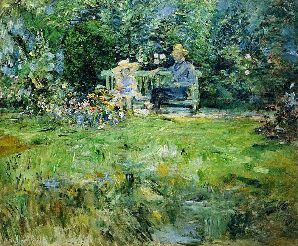 testclod la le on dans le jardin berthe morisot 1886. Black Bedroom Furniture Sets. Home Design Ideas