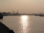Η δύση του ήλιου στο λιμάνι του Rostock