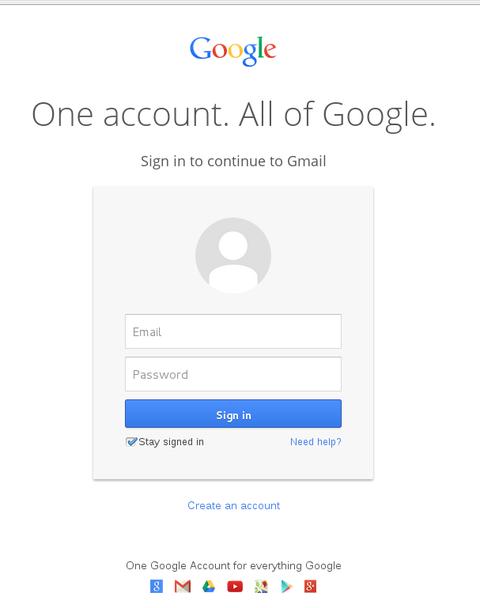Tampilan halaman login Gmail terbaru