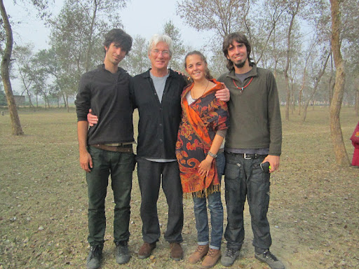 Kunkyen, Richared Gere, Mai and Osel in Bodh Gaya Jan 2012