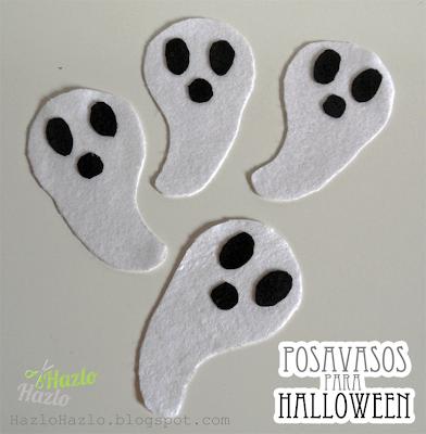 Cómo hacer unos posavasos para Halloween.