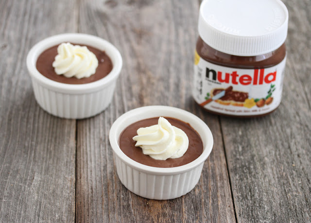 two bowls of nutella mousse