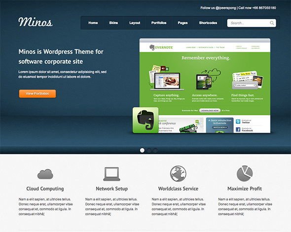 Minos WordPress Business Theme
