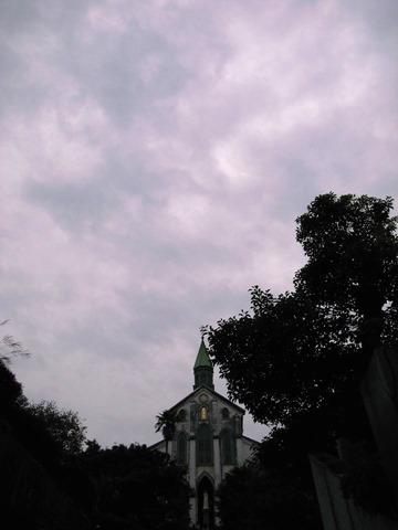 大浦天主堂逆光