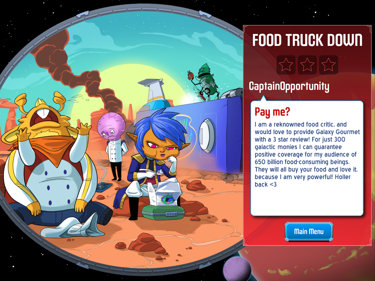 Space Food Truck- screenshot