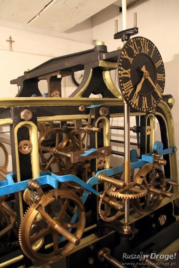 Zegar wieżowy: Poddasze Fary pw. Św. Mateusza w Nowem