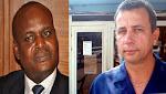 (De gauche à droite) Jacques Mbadu élu gouverneur du Bas-Congo et Jean Bamanisa élu gouverneur de la Province Orientale au second tour, le mercredi 31 octobre 2012. Photos Journaldekin.com et Radiookapi.net
