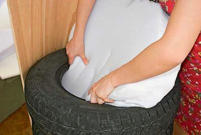 Puff com pneus reciclados