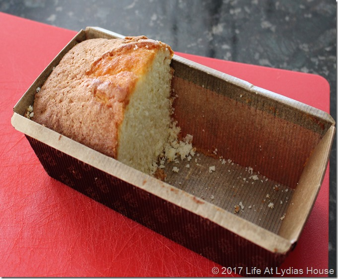 purchased pound cake