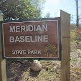 New entrance and sign to Meridian Baseline State Park.