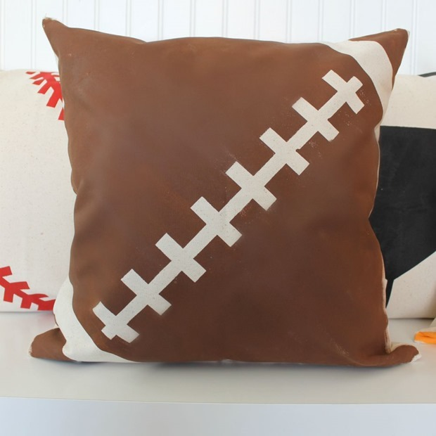 decoart football pillows