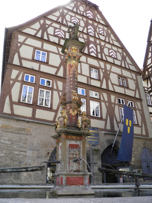 A medieval fountain in Germany