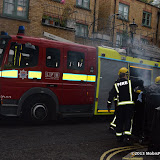 WWW.ENTSIMAGES.COM -    Incident requiring Fire Services outside    You're Next - VIP film screening at The Soho Hotel,  London August 13th 2013                                                 Photo Mobis Photos/OIC 0203 174 1069