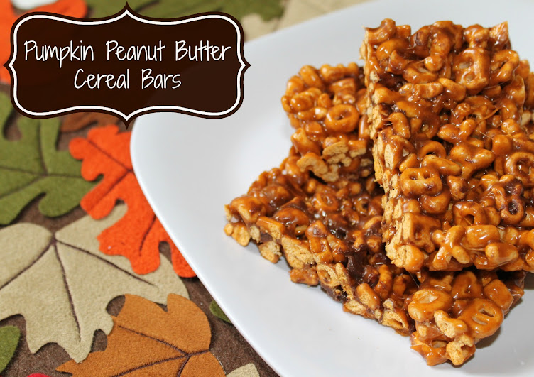 Pumpkin Peanut Butter Cereal Bars Recipe #AlphaBits