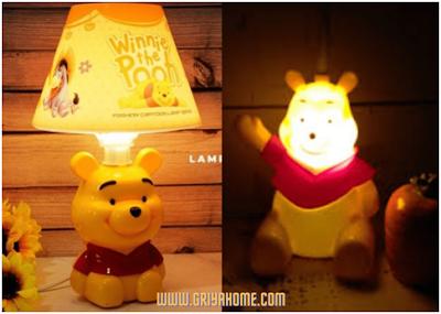 Lampu Tidur Winnie the pooh