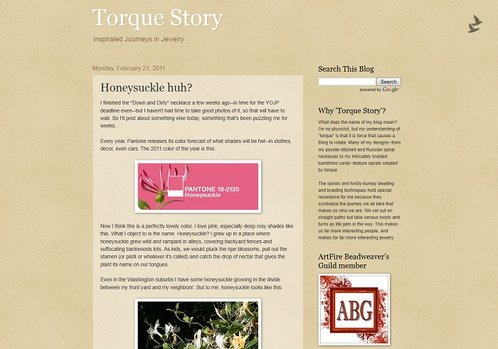 Torque Story Beading Blog