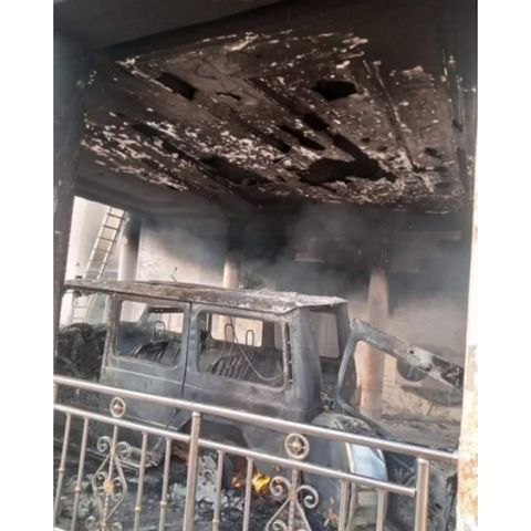 IPOB's ESN Members Of Burn Man's Mansion And Fleet Of Cars For Allegedly Planting Cameras In Abia