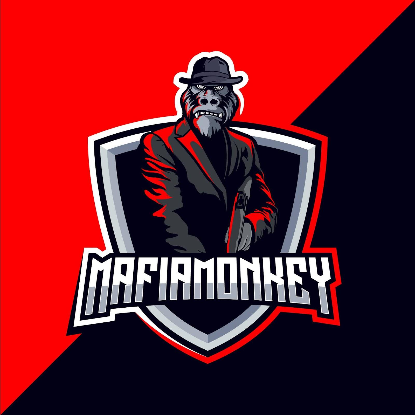 Mafia Gorilla Esport Gaming Mascot Logo Free Download Vector CDR, AI, EPS and PNG Formats