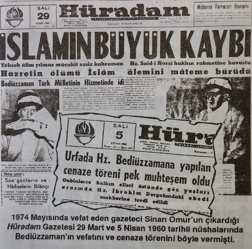 Said-i Nursi Dün Sabah Urfa'da Vefat Etti.:.Bediüzzaman Said Nursi &  Risale-i Nur Külliyatı | SaidNur.Net