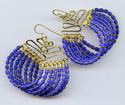 Seven Strand Squiggle Earrings by Melody MacDuffee