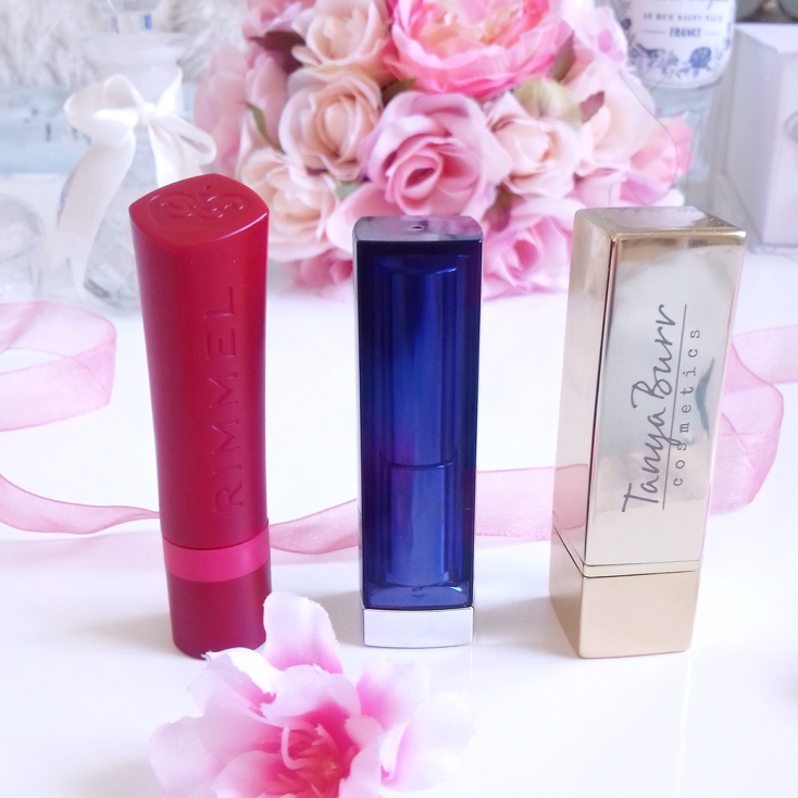 Bright Lipsticks Featuring Maybelline, Rimmel, Tanya Burr Cosmetics