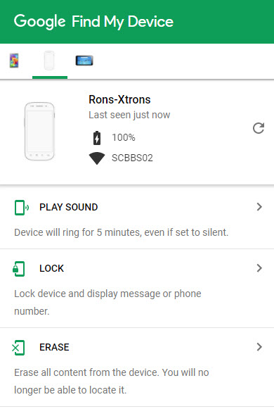 Android Device Manager disable lock screen - Google Play Help