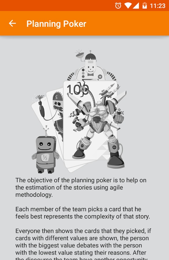 Planning Poker- screenshot