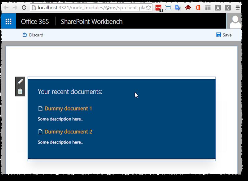 SP workbench - add client web part 2