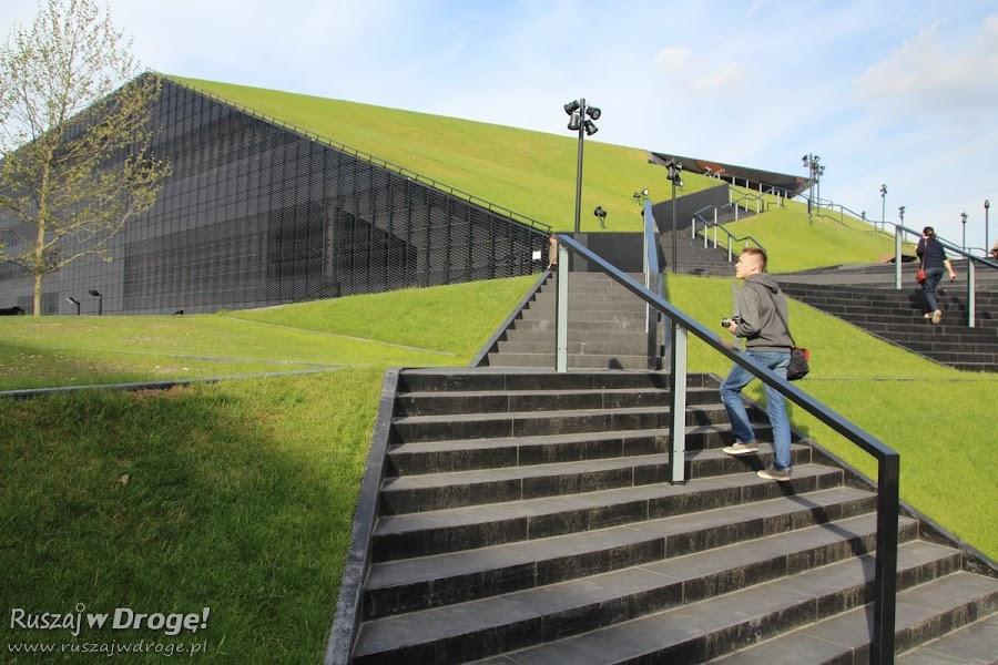 Katowice Nowe Centrum Kultury - dach Centrum Kongresowego