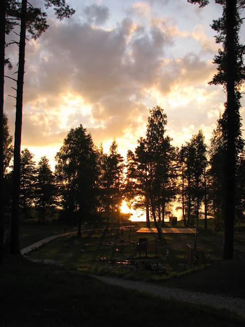 Zapad slunce u vecere