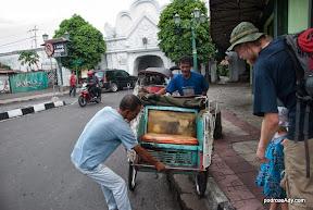 Przejazd rikszą po Yogyakarta