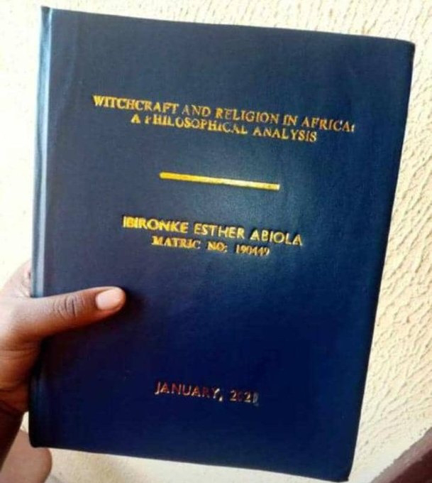 Uproar as Student completes Project Research on 'Witchcraft and Religion in Africa'