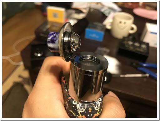 IMG 4263 thumb - 【OH!SAMURAI!】「Dovpo Bushido2 RDA」(ドヴポ・プシドーツーRDA)レビュー!フレーバー重視と言いつつ巨大なボトムエアフローで爆煙重視のRDA!レジンかストーンのドリップチップもカッコイイ!