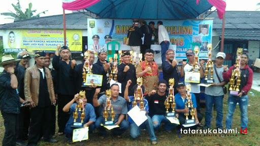 Kontes Ayam Pelung Tingkat Provinsi Bupati Cup di Sukabumi Berlangsung Meriah