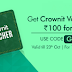 Crownit App - Signup & Get Free 100 Rs (Redeemable as Amazon,Flipkart etc Vouchers)