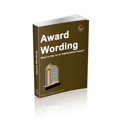 Award Wording Manual