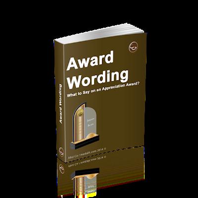 Award Wording Manual
